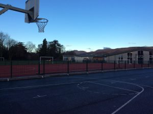 Views of the school grounds and hills