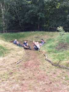 Maintaining areas and adding logs to edge the path